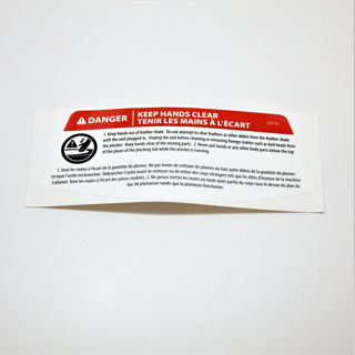 Picture of 23725 DECAL WARNING KEEP HANDS CLEAR EN FR